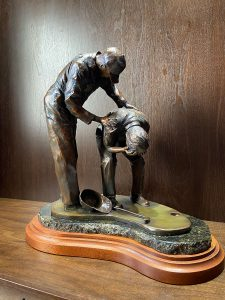 CGC now features this Robert Fletcher bronze of caddie Carl Jackson consoling an emotional Ben Crenshaw after his 1995 Masters win.